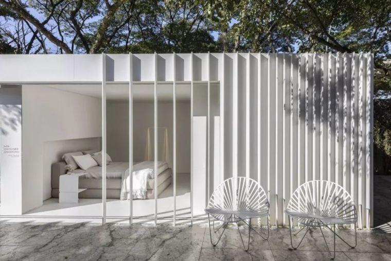 集装箱改造 极简白色住宅