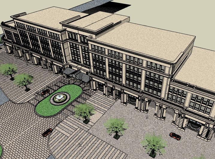 新古典风格酒店建筑模型设计