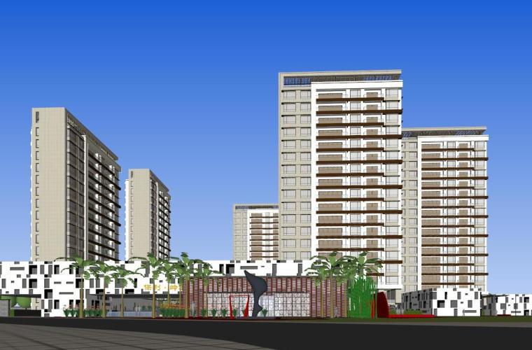 [广东]珠海保利住宅建筑模型设计(新亚洲风格)