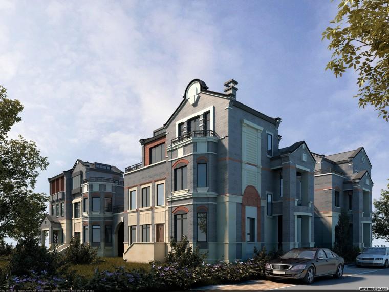 西塘保利越合院别墅建筑模型设计