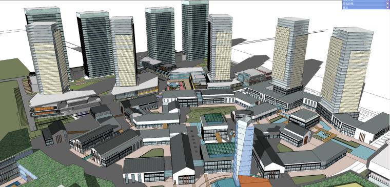 现代风格华润万象城建筑模型设计