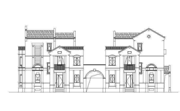 保利西塘越合院别墅建筑施工图设计