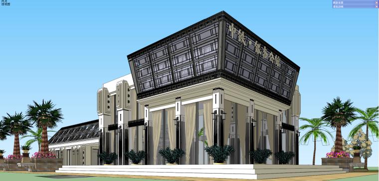 华润·中铁银杏售楼部建筑模型设计