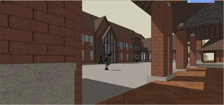 华润某会所英式风格建筑模型设计