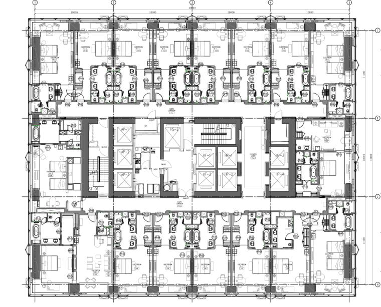 [天津]法国PYR-天津四季酒店&四季汇公寓客房全套CAD施工图