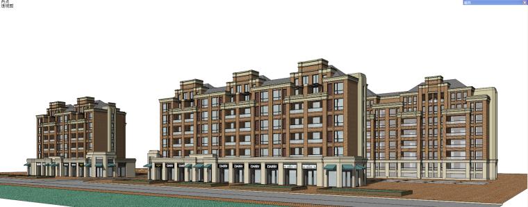 新古典风格保利花园洋房建筑模型设计