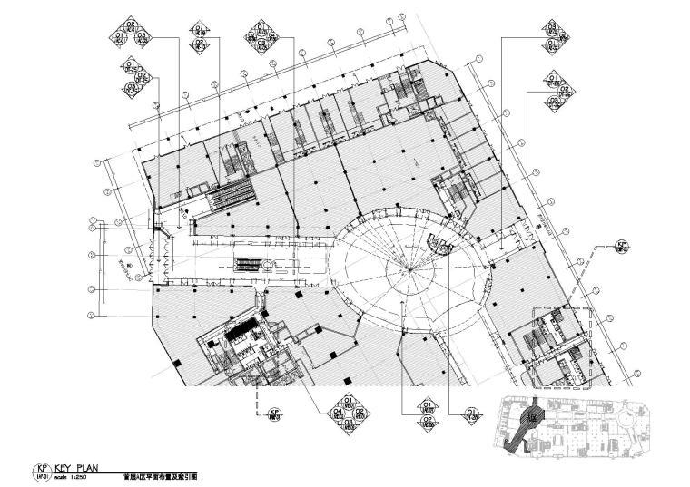 [广东]番禺万博CBD商业广场全套CAD施工图