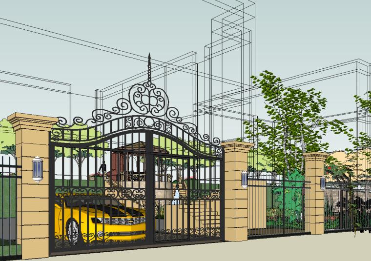 欧式别墅景观su模型资料下载-[湖南]长沙保利别墅景观设计模型