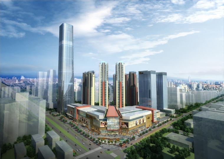 [广西]华润南宁万象城现代风格建筑模型设计
