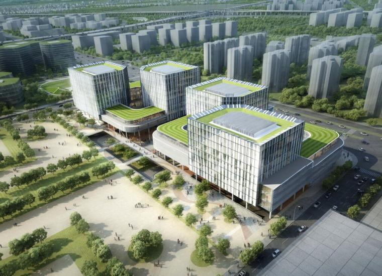 [上海]阿里巴巴总部办公综合图建筑方案文本(现代风格|PDF+90页)