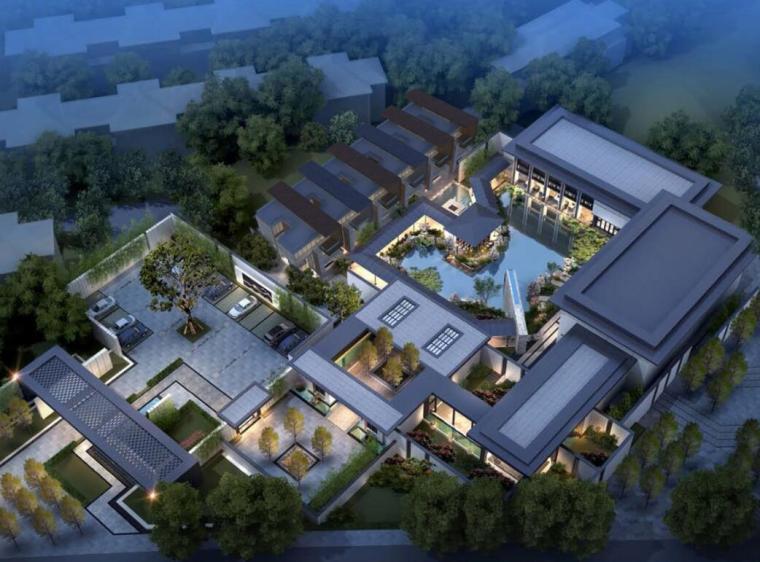 [山东]青岛惠普新中式风格居住区联排别墅建筑方案文本(CDG设计|PDF+84页)