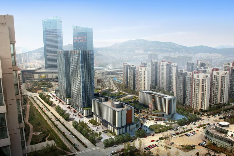 [鲁能领秀城]综合体建筑方案+BIM模型+施工图+照明设计+标识设计