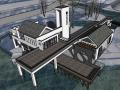 新中式湖畔别墅建筑模型设计