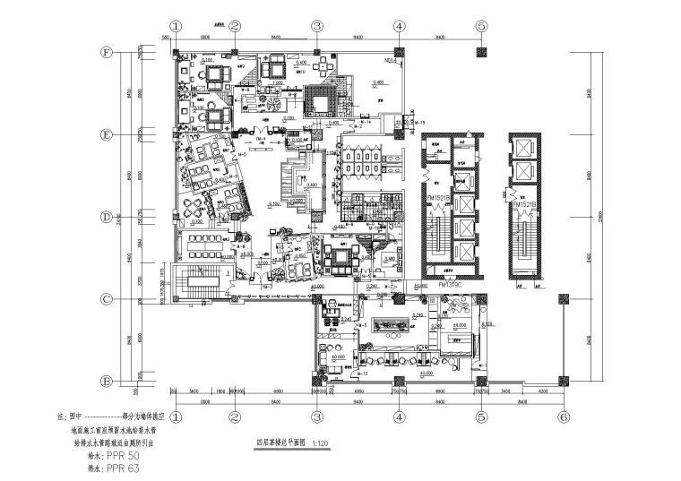 [河北]石家庄军创国际茶楼装饰工程CAD施工图+效果图