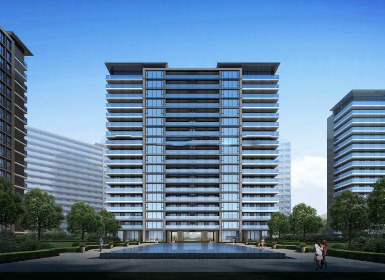 [浙江]杭州融创大家侯潮府现代高层豪宅建筑模型设计