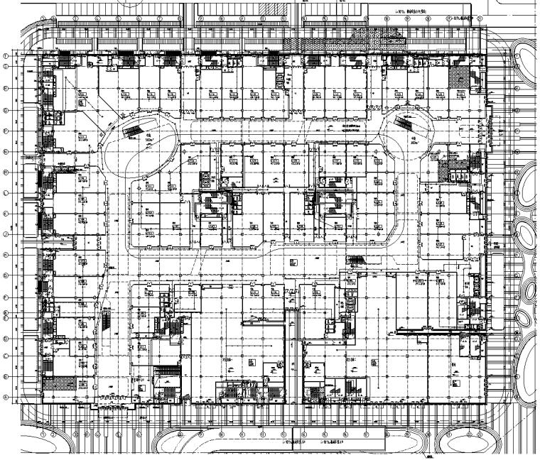 [知名院]北京大型商业广场强电及弱电智能化施工图