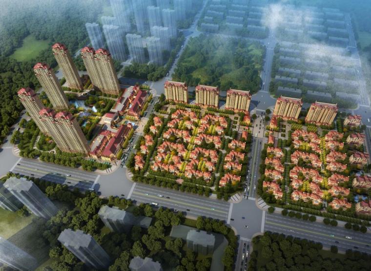 [安徽]华润置地欧陆风格居住区建筑方案文本(JWDA设计|PDF+120页)