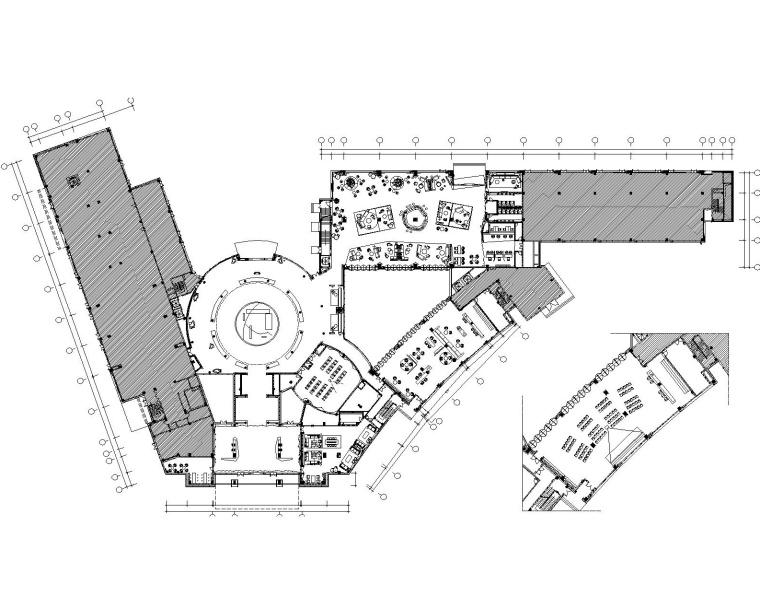 [天津]于强设计-天津融创星耀五洲售楼处CAD全套施工图+效果图方案+官方摄影