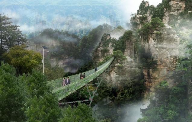 景区新建工程之吊桥专项施工工艺技术