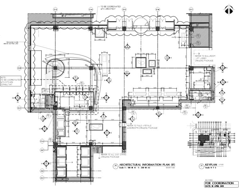 [安徽]HBA-合肥洲际酒店室内公区装修施工图+效果图+官方摄影