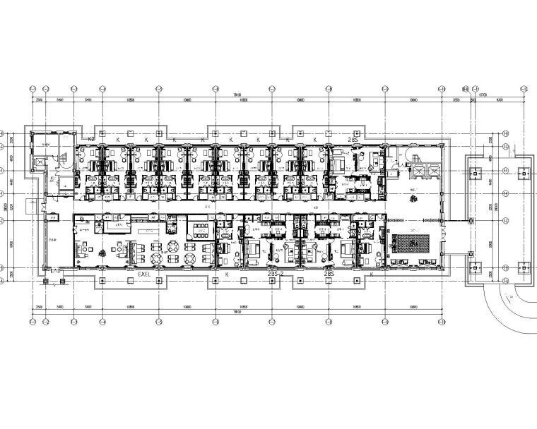 云南昭通万达嘉华酒店局部CAD平面图+效果图设计方案