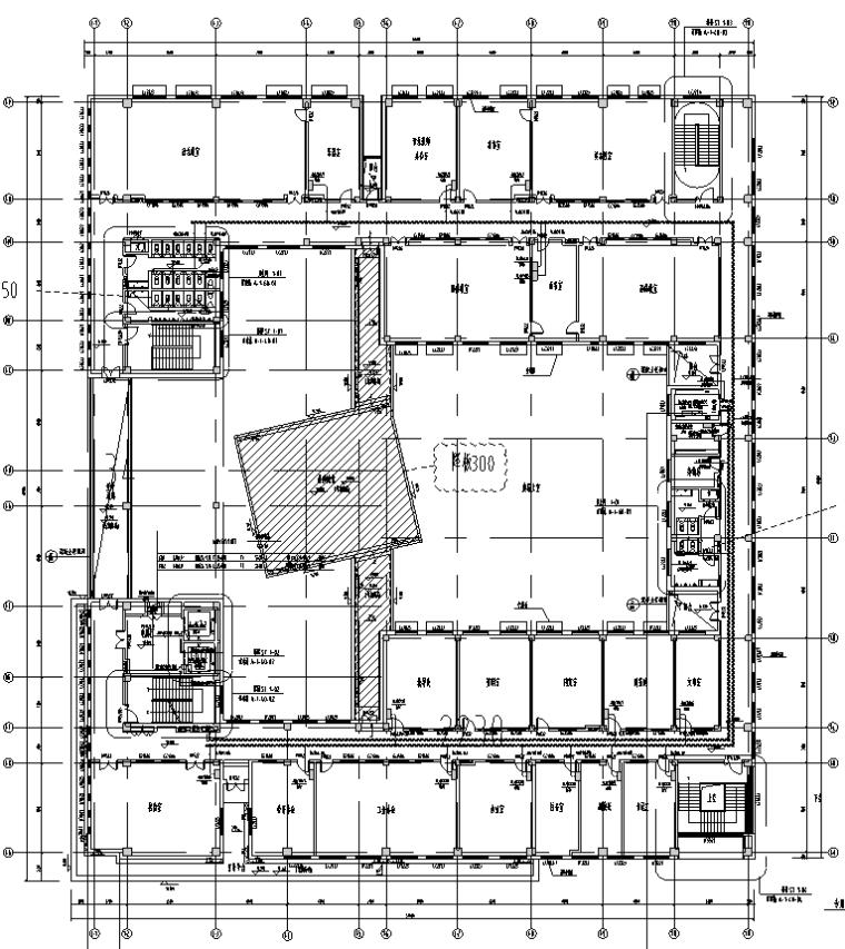 上海住宅小区配套学校电气施工图
