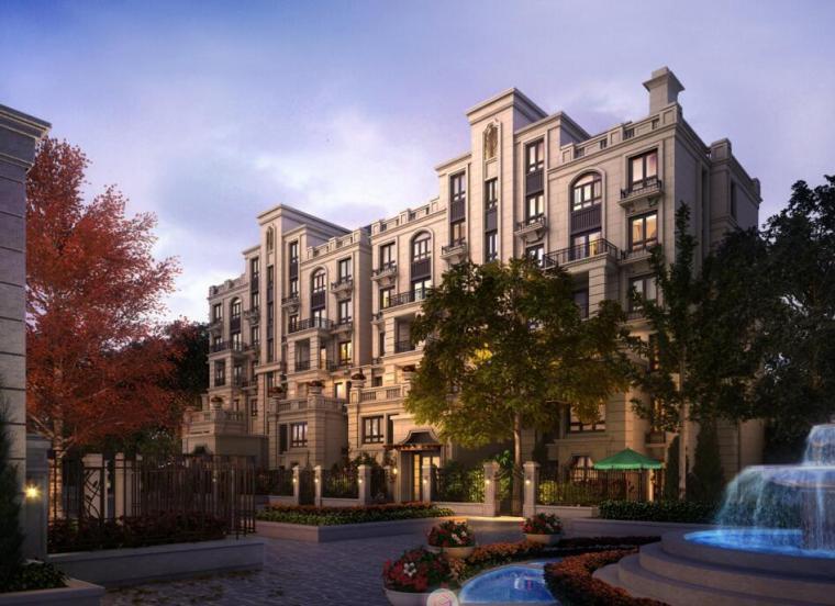 [上海]欧陆风格风格居住区建筑方案文本(PPT+132页)