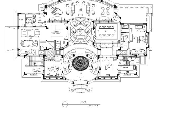 [上海]西郊庄园CAD施工图+效果图+材料表