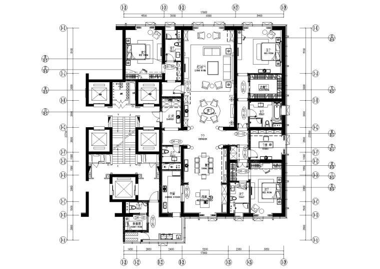 [大连]GOA-大连维多利亚公馆D1户型350m²样板间方案+效果图+彩立面+施工图+宣传片