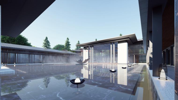 [河南]绿都郑州雁鸣湖院子示范区售楼处建筑模型设计(UA国际)