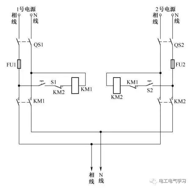 [电气分享]15个常见的电工中级电路图,会操作12个才算得上是电工