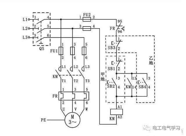 [电气分享]15个常见的电工中级电路图,会操作12个才算得上是电工_15