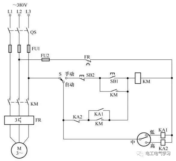 [电气分享]15个常见的电工中级电路图,会操作12个才算得上是电工_12