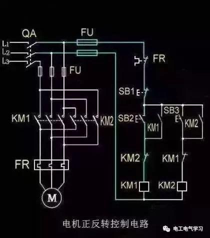 [电气分享]15个常见的电工中级电路图,会操作12个才算得上是电工_6