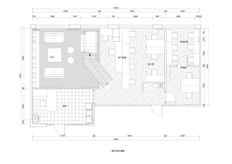 [上海]泓点-上海泓点设计办公楼CAD施工图+实体拍摄