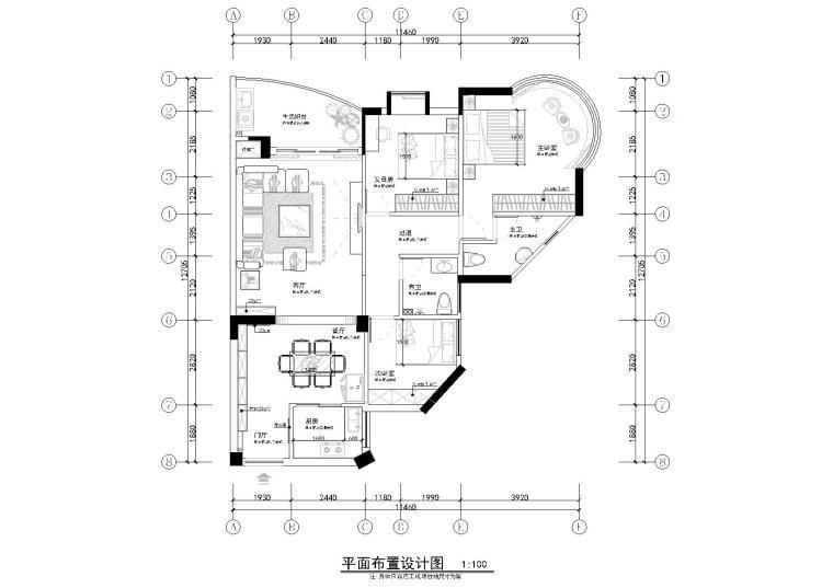 [广东]铭筑-赖先生家居样板间施工图+效果图+软装表