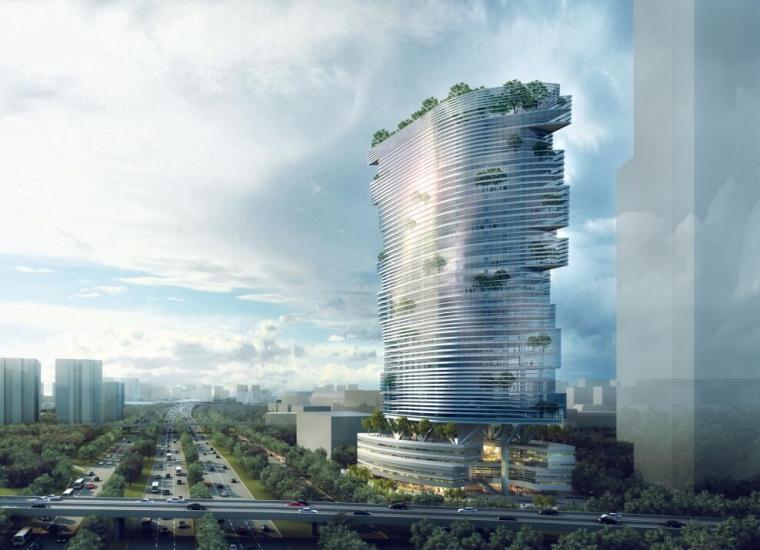 [广东]金融华南大厦现代风格建筑方案文本(PDF+75页)