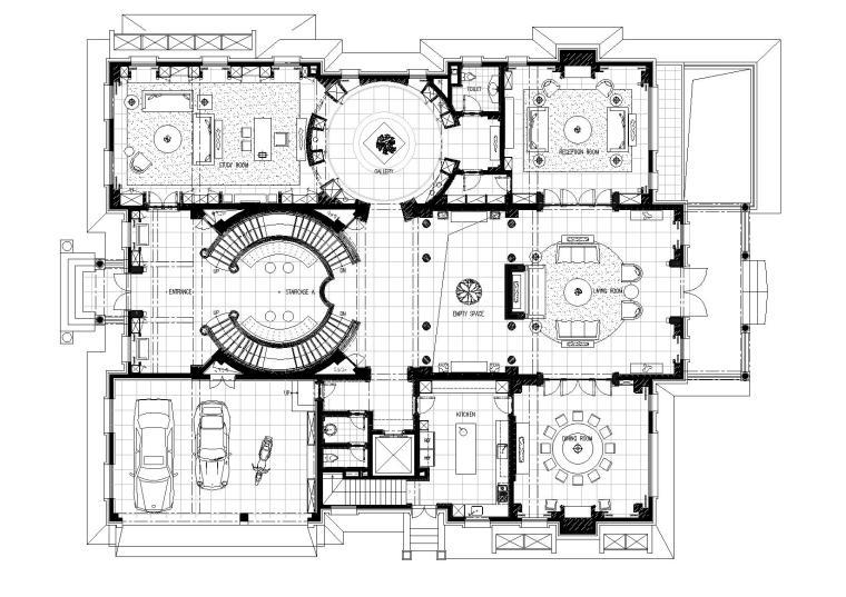 [北京]邱德光-北京財富公館B1戶型CAD施工图+实景拍摄