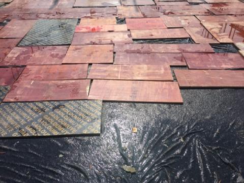 土工布、模板成品保护及养护措施