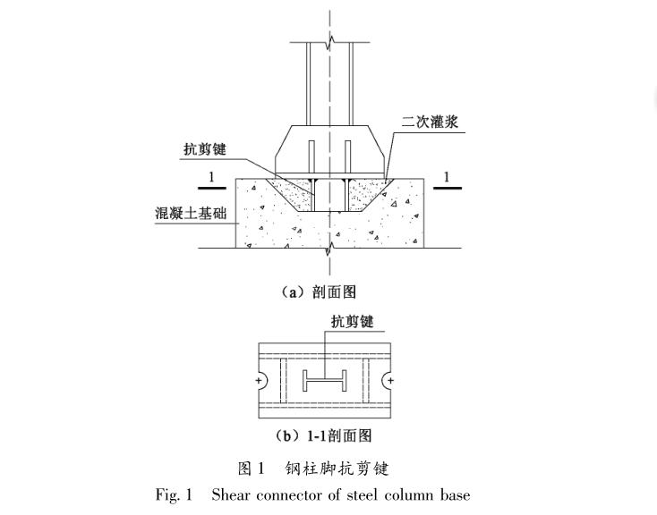 [论文]钢结构柱脚抗剪键抗剪承载力计算