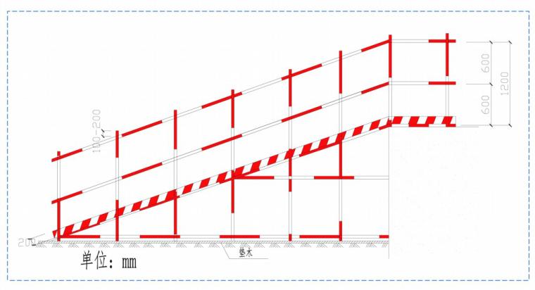 51一字型坡道侧视图