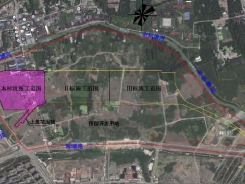 五常车辆段Ⅰ标地理位置图