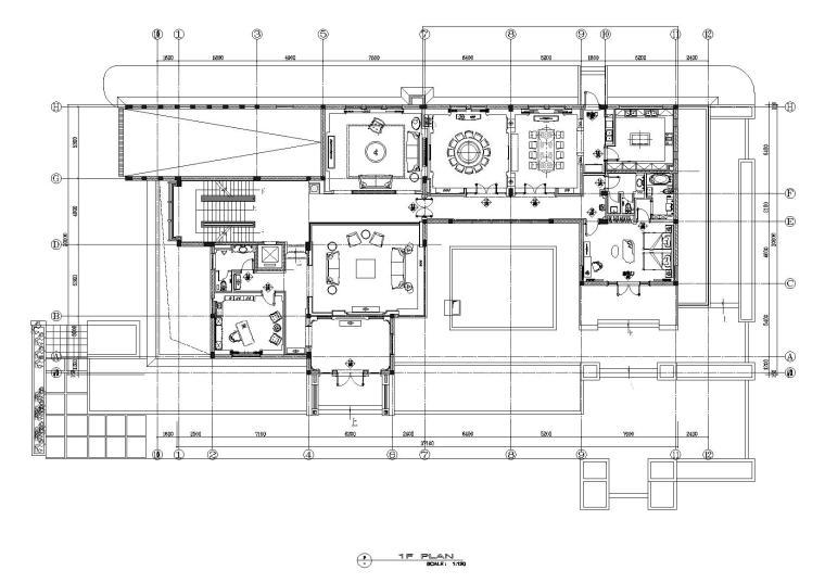 [常州]翰良作-遥观戚公馆CAD施工图+效果图+材料表