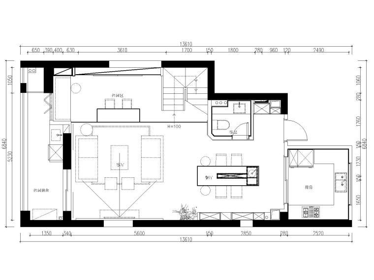 [浙江]杭州和美家现代风格两居室板房室内装修全套施工图+效果图