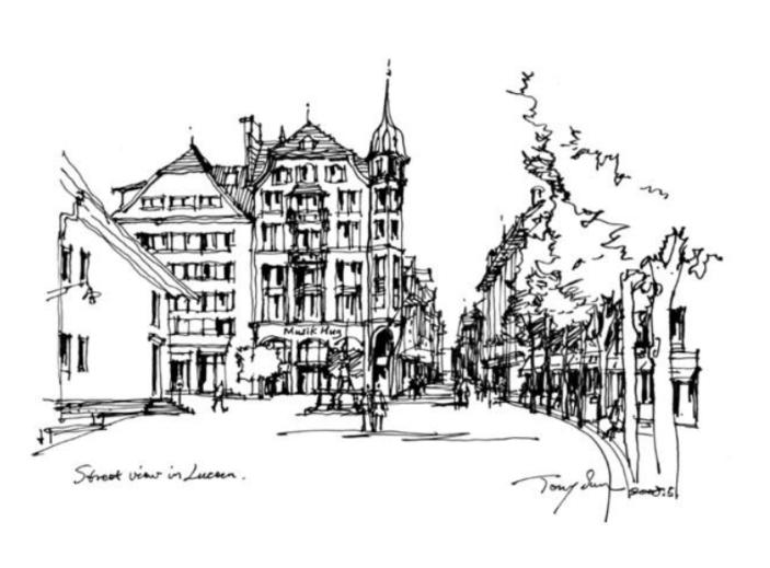 建筑手绘线稿范例100篇(PDF)