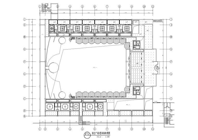 演艺广场2层平面布局图