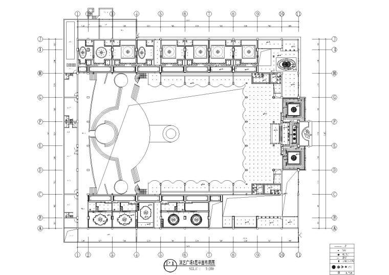 演艺广场1层平面布局图