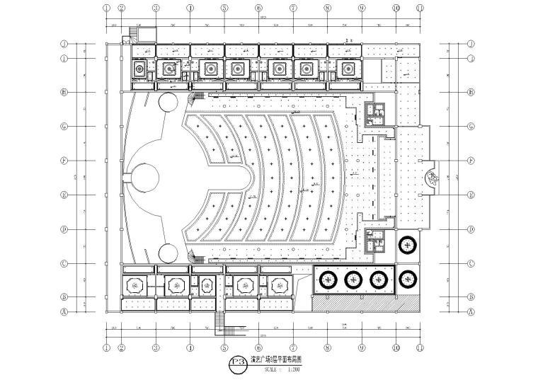 演艺广场3层平面布局图