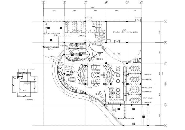 [江苏]堂杰工作室-泰思特西餐厅裝修設計圖紙施工图+效果图