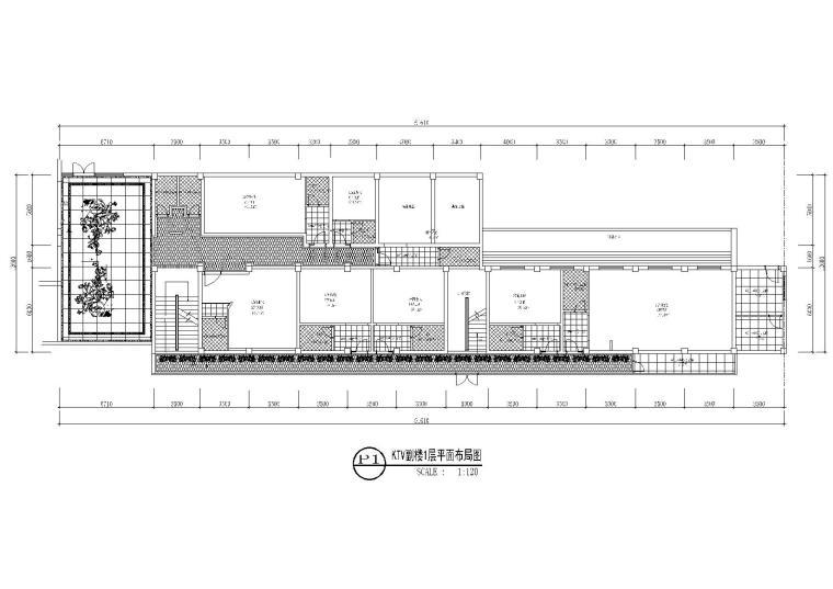 KTV副楼1层地面铺装图